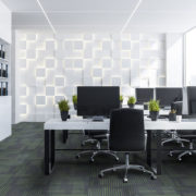 NFD Arizona Carpet Tiles Lime On Black