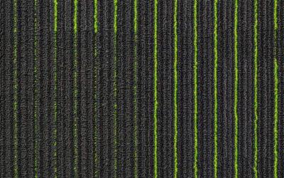 NFD Arizona Carpet Tiles Lime On Black