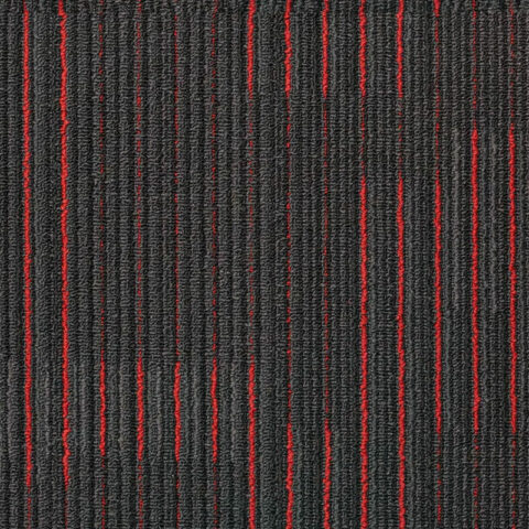 NFD Arizona Carpet Tiles Red On Black