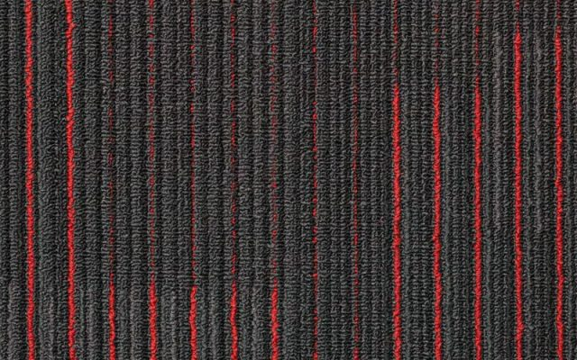 NFD Arizona Carpet Tiles Red On Black