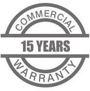 15 years warranty