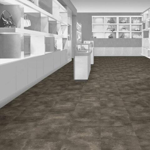 Interface Natural Stone Loose Lay Vinyl Planks Marone Dark Marble