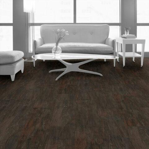 Interface Textured Woodgrains Loose Lay Vinyl Planks Dark Walnut