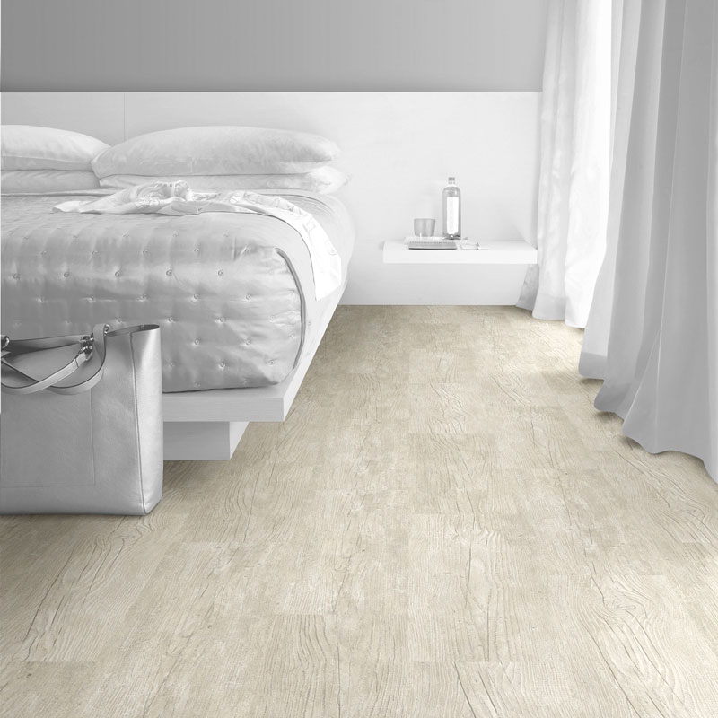 Interface Textured Woodgrains Loose Lay Vinyl Planks White Wash
