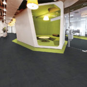 Airlay Paragon Carpet Tiles Black Night Lemon Lime