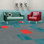 Airlay Paragon Carpet Tiles Midnight Green Dark Cyan Chilli