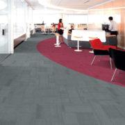 Airlay Paragon Carpet Tiles Midnight Green Maroon