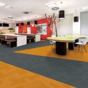 Airlay Paragon Carpet Tiles Tangerine Pale Silver