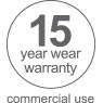 15 year commercial warranty