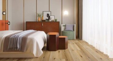 Both vinyl and hybrid planks are suitable for almost all areas in the house.