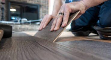 Flooring plank installation.