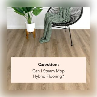 ❌ No ❌  Hybrid Flooring should not be steam mopped because it can cause the floorboards to peel or crack.  Instead, you can use a vacuum, broom, damp mop, or a pH-neutral cleaning solution.