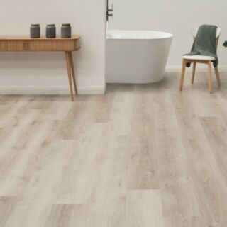 The dull beige grain of the Australian Select Timbers' Nouvelle Hybrid Flooring in Silver Birch colour is given a warmer glow thanks to a hint of pink.   Every plank of this hybrid flooring features a long-lasting matt lacquer finish and a sturdy cork backing.   SPECIFICATIONS:  👉 PLANK SIZE: 180 x 1830 mm 👉 THICKNESS: 5.5 mm 👉 QTY PER CARTON: 6 pieces 👉 AREA PER CARTON: 2.5144 m2